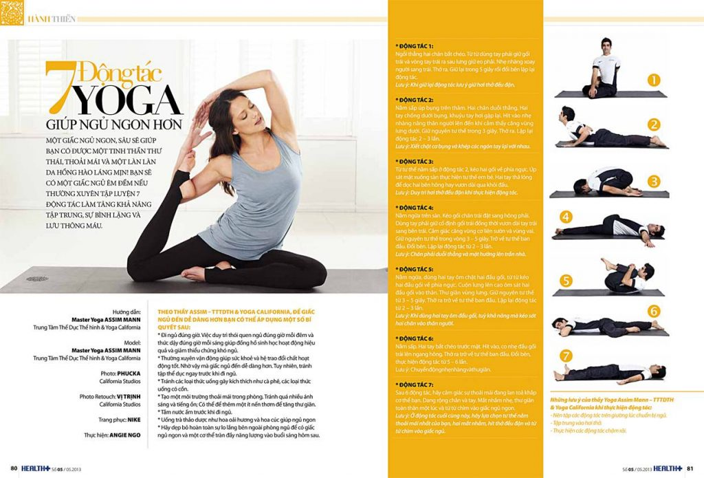 7 động tác yoga cải thiện mất ngủ