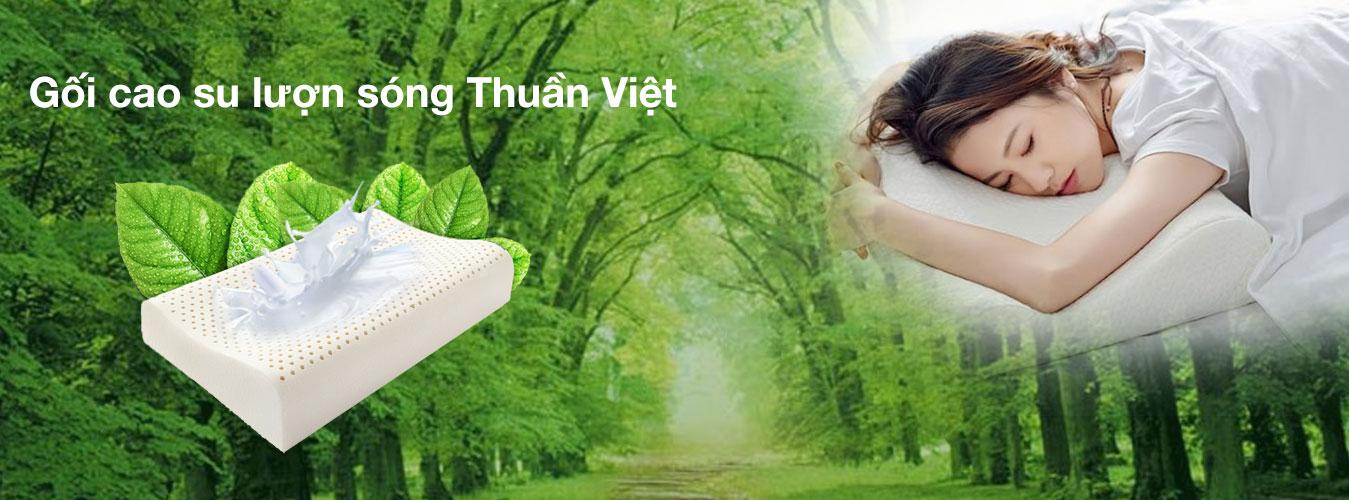 Gối cao su lượn sóng Thuần Việt