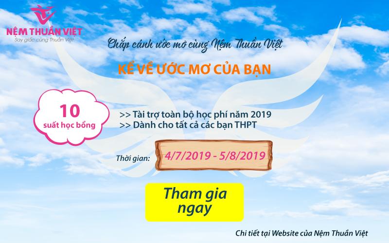 Học bổng chắp cánh ước mơ Nệm Thuần Việt