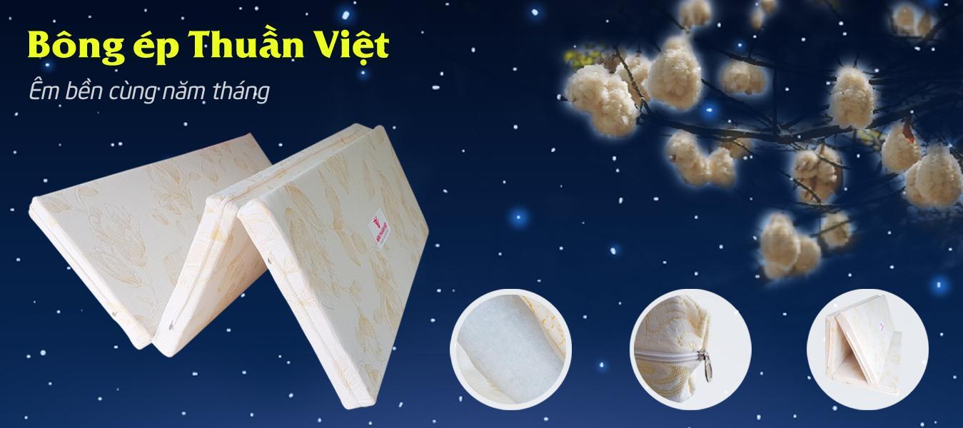 Nệm Bông Ép Thuần Việt