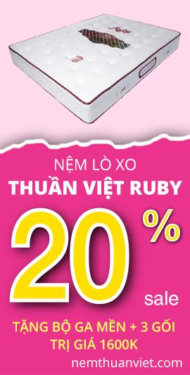 Nệm lò xo Thuần Việt Ruby