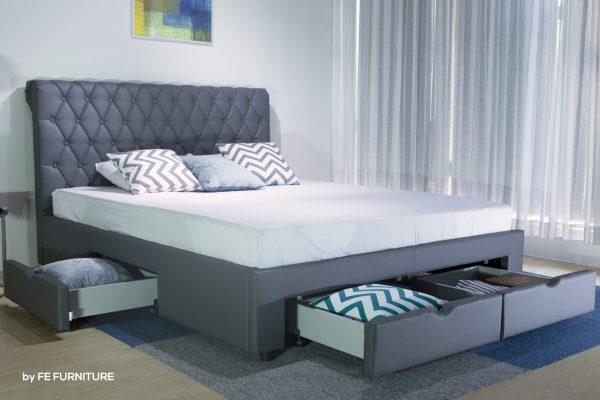 Giường ngủ thông minh bọc da 4 hộc kéo B1457D