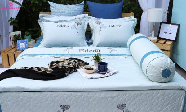 drap giường ga trải giường bộ chăn ga gối edena