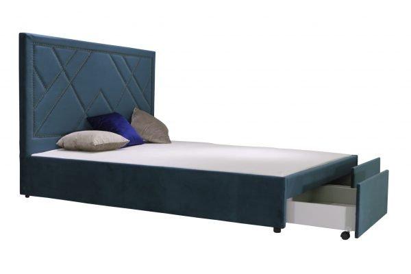Giường Ngủ Bọc Nhung Có Hộc Để Đồ B1206