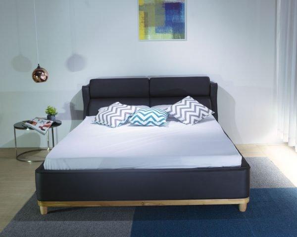 giường nằm ngủ bọc nệm B1235