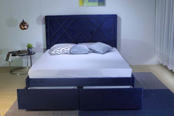 Giường bọc nhung 2 hộc B1206