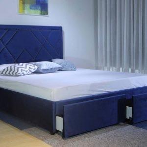 các mẫu giường ngủ Bọc Nhung 2 Hộc B1206