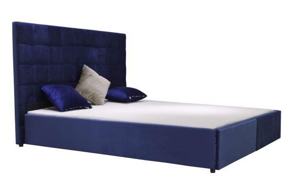 giường ngủ đẹp giá rẻ bọc nhung có hộc để đồ B1254