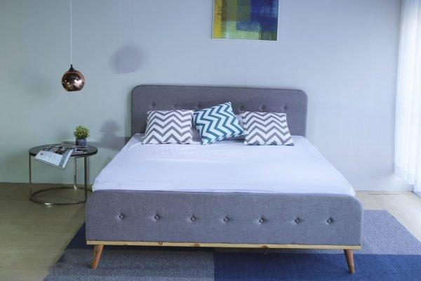 giường ngủ giá rẻ hcm bọc vải Scandinavian B1240