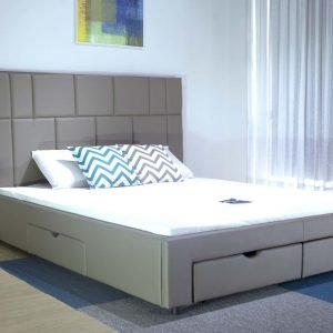 Giường Ngủ Thông Minh Bọc Da PU 4 Hộc Kéo B1446D