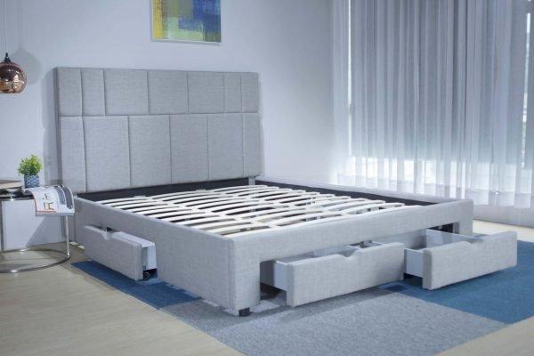 Giường thông minh bọc vải 4 hộc B1446D