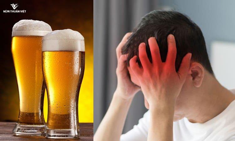 tác hại của rượu bia Uống bia không ngủ được