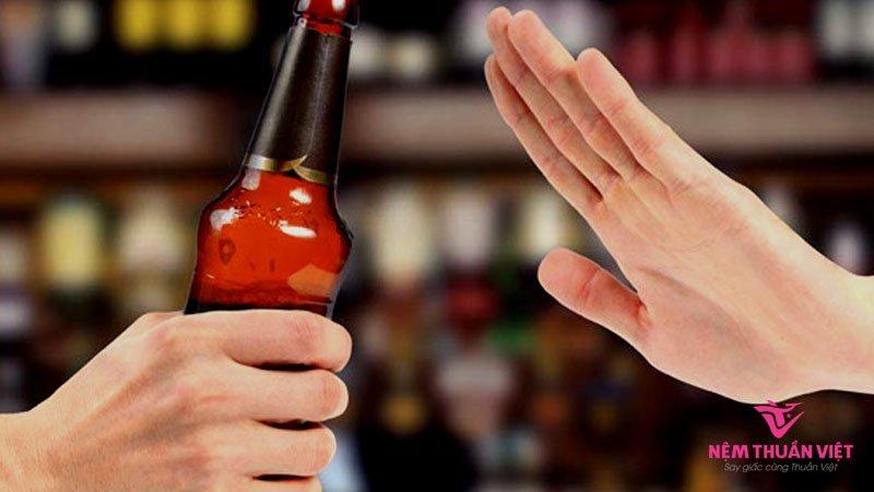 hạn chế bia rượu gây mất ngủ