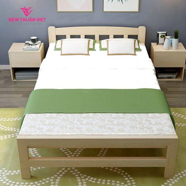 giường gỗ gấp đôi bằng gỗ giá rẻ