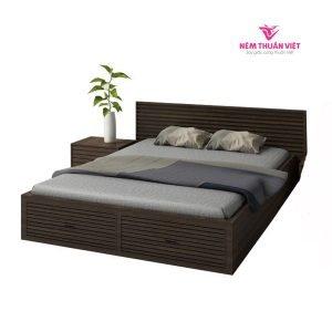 giường ngủ hiện đại màu đen sáng giá rẻ