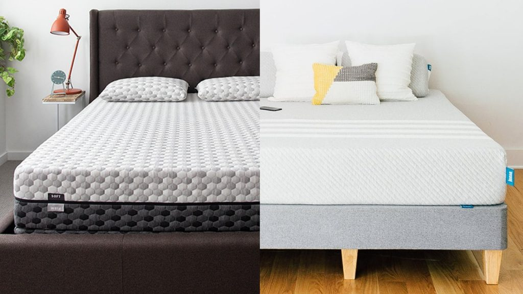 Leesa vs Layla mattress side by side