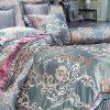 Bộ chăn drap phủ Luxury Gấm lụa LXG 7601P